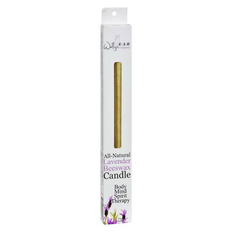 Wallys Natural Products All-Natural Beeswax Candle - Lavender