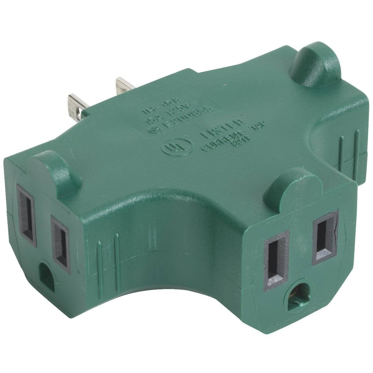 Do It Best Grounded Multi Outlet Cube Tap No Adapter - Green, 3pk