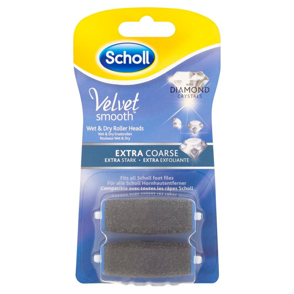 Scholl Velvet Smooth Wet and Dry Roller Heads - 2ct
