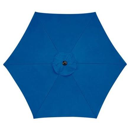 "Living Accents Market Umbrella - Blue, 108.27""x92.52"""
