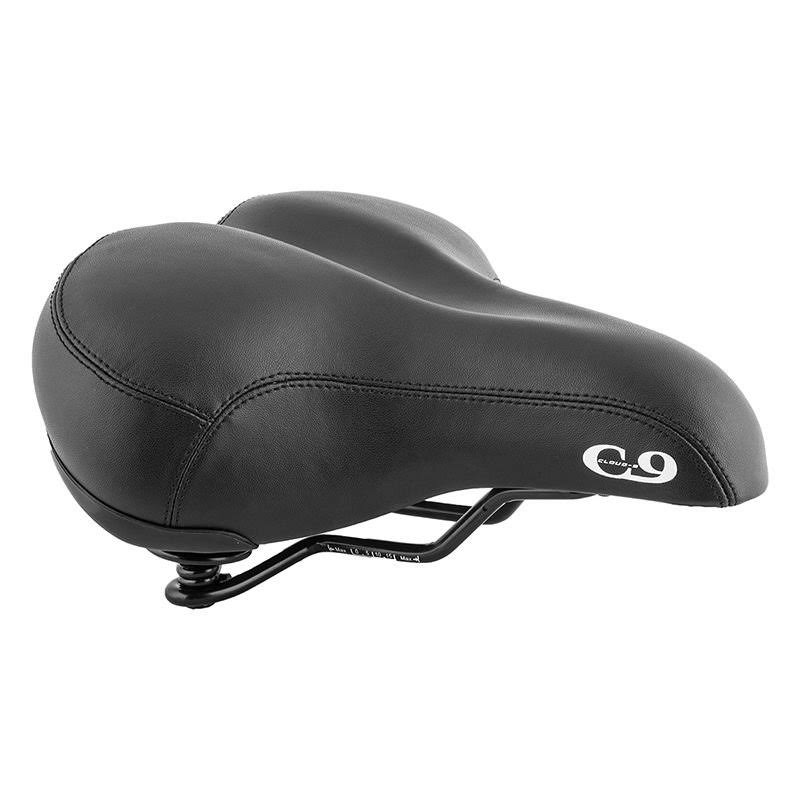 Sunlite Bicycle Cloud-9 Cruiser Gel Plus Suspension Saddle - Black
