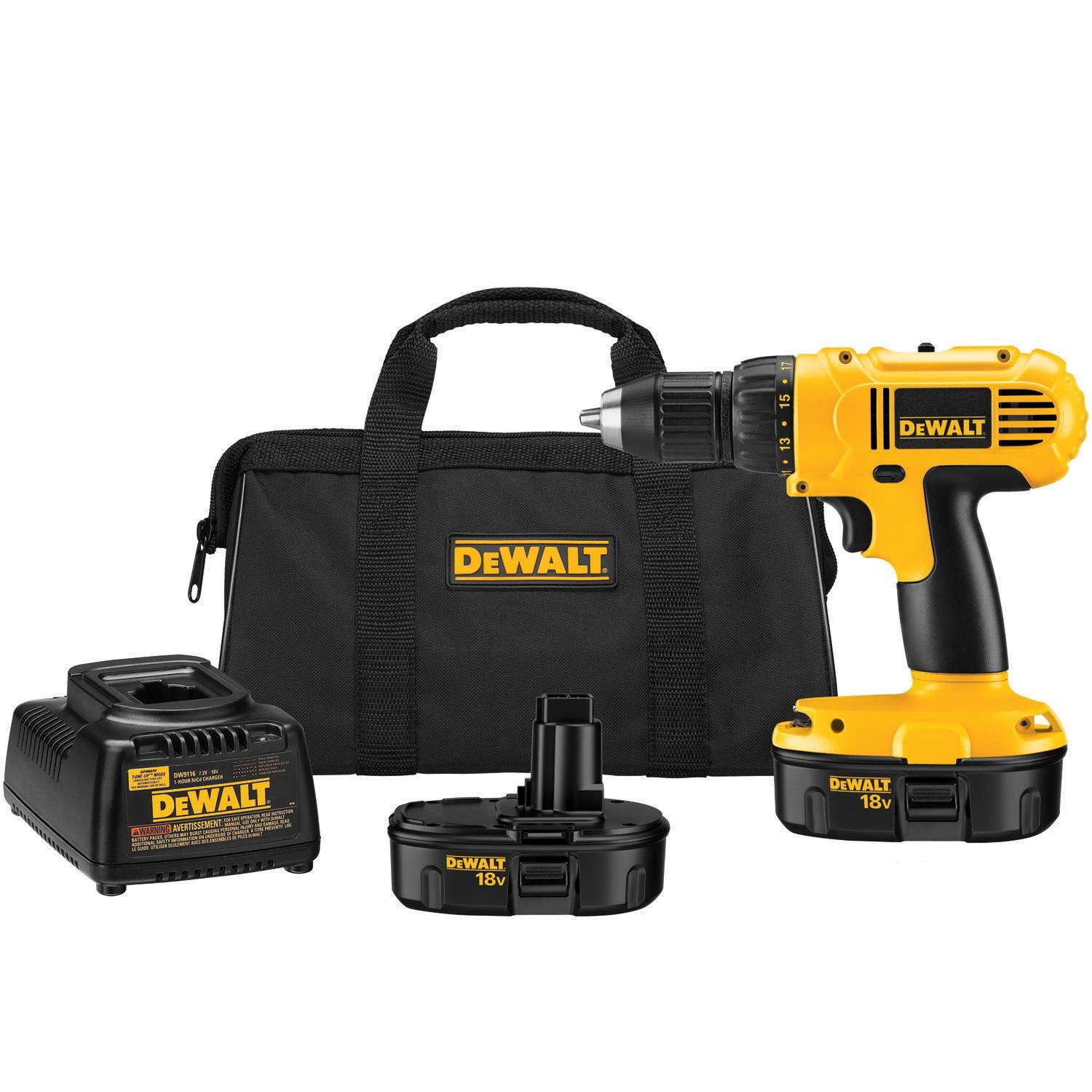 DEWALT - 18 V 1/2 in. (13mm) Cordless Compact Drill/Driver Kit