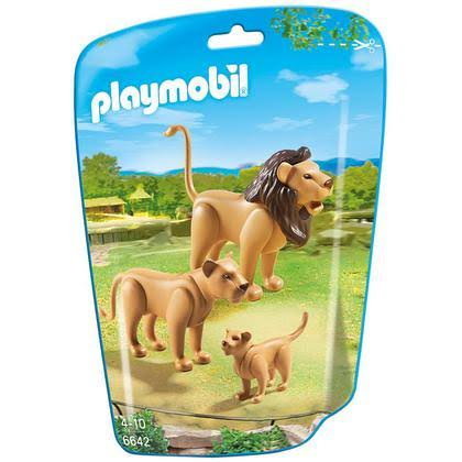 Playmobil City Life Zoo Lion Family Playset