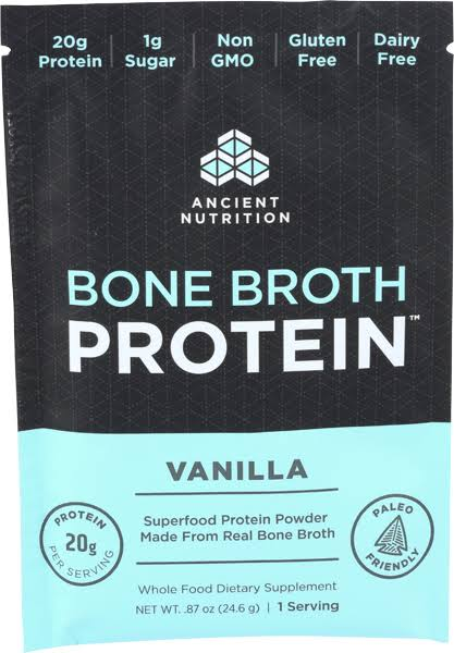 Ancient Nutrition Bone Broth Protein Vanilla - Single Packet .87 oz