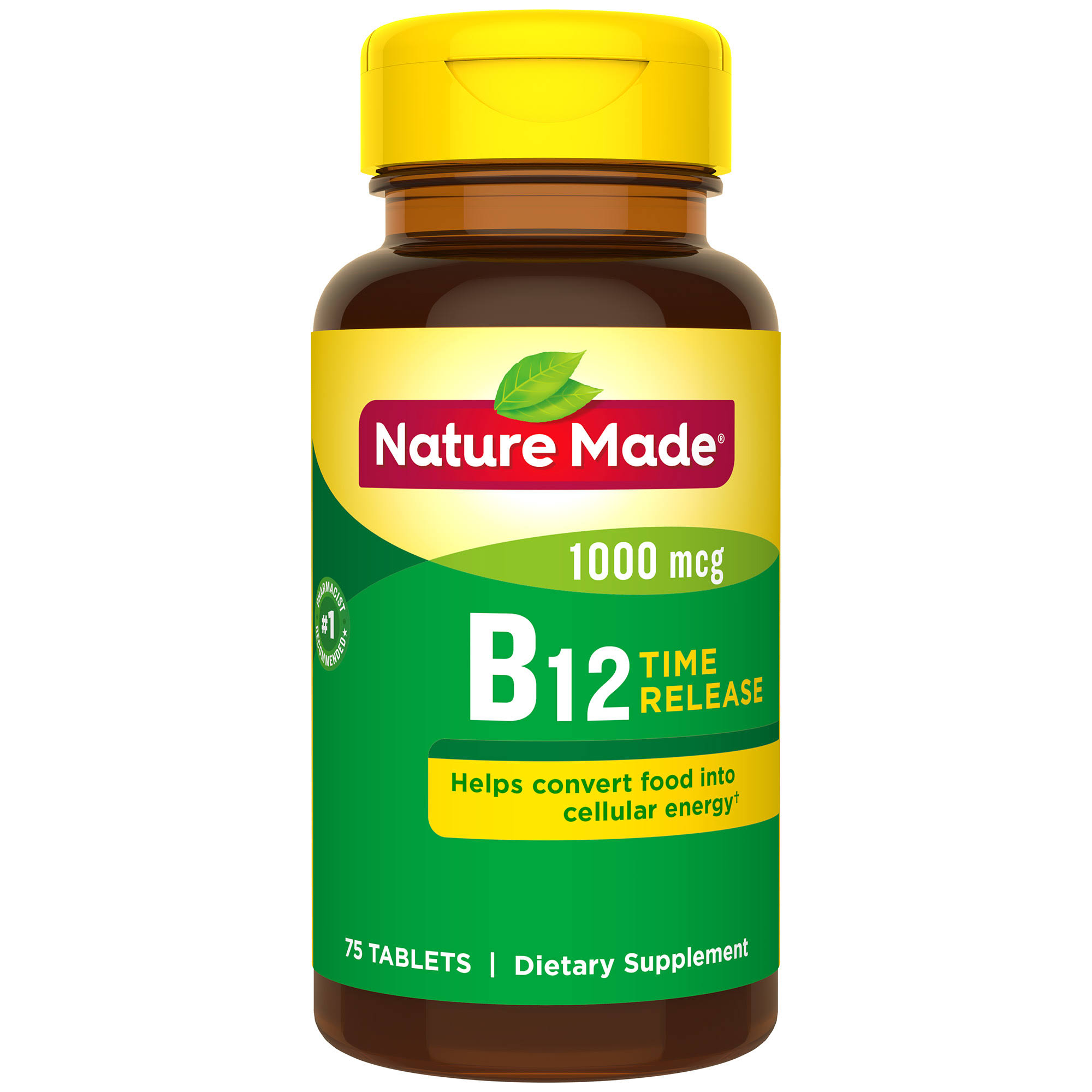Nature Made Vitamin B12 1000 mcg Tablets - 75 Pack