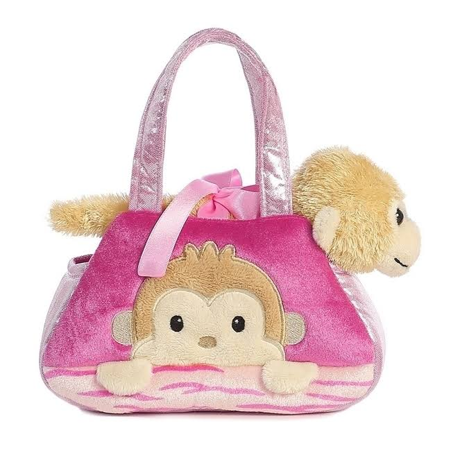 Aurora World Fancy Pals Peek-A-Boo Monkey Pet Carrier