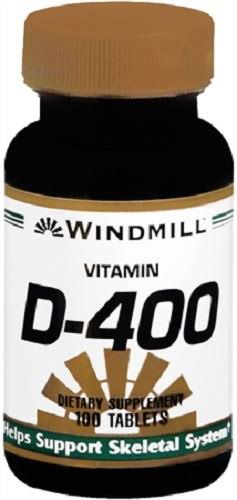 Windmill Vitamin D-400 Dietary Supplement - 100 Tablets