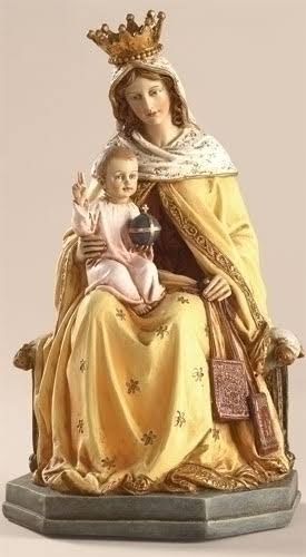 Our Lady of Mount Carmel Scapular Statue - 8""