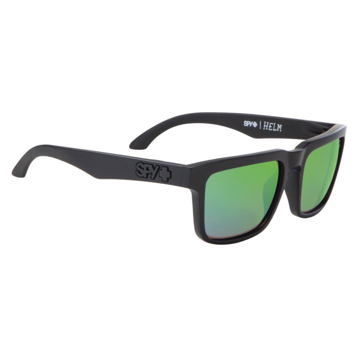 Spy Helm Polarized Sunglasses - Matte Black/Green