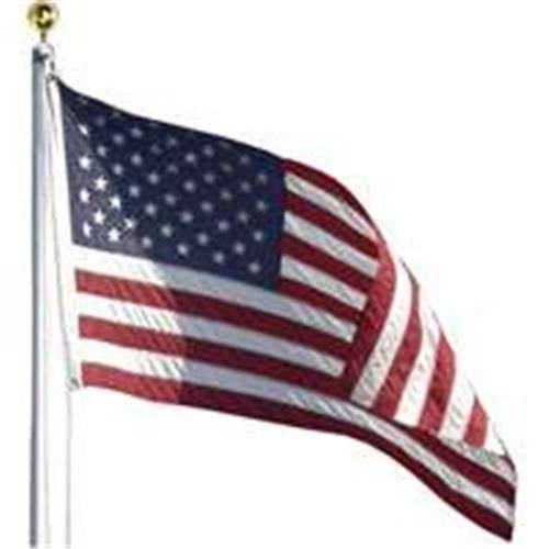 Valley Forge In-Ground United States Flag Kit - 20' Aluminum Pole, 3'x5'