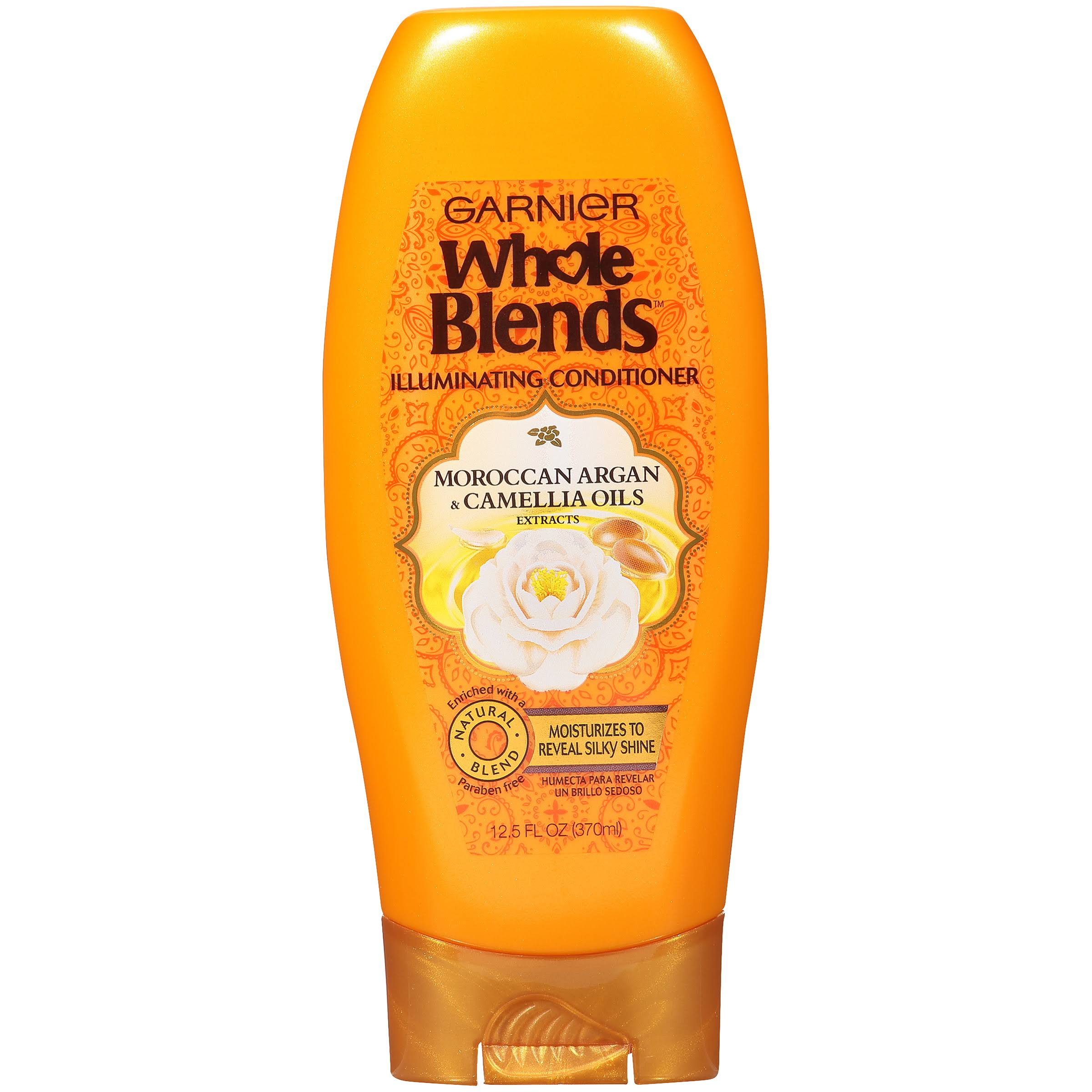 Garnier Whole Blends Illuminating Conditioner Moroccan Argan and Camellia Oils Extracts - 12.5oz