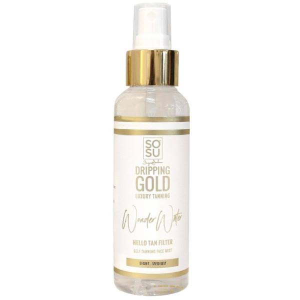 SOSU by Suzanne Jackson Dripping Gold Wonder Water Self Tanning Facial Mist Light Medium