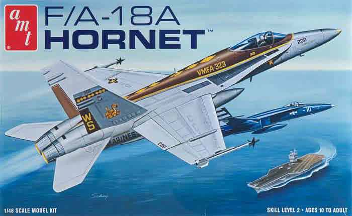 AMT Hornet Fighter Jet Plastic Model Kit