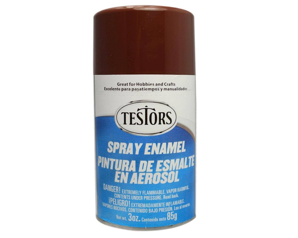 Testors 1240 Spray Paint Enamel - Gloss Brown, 3oz