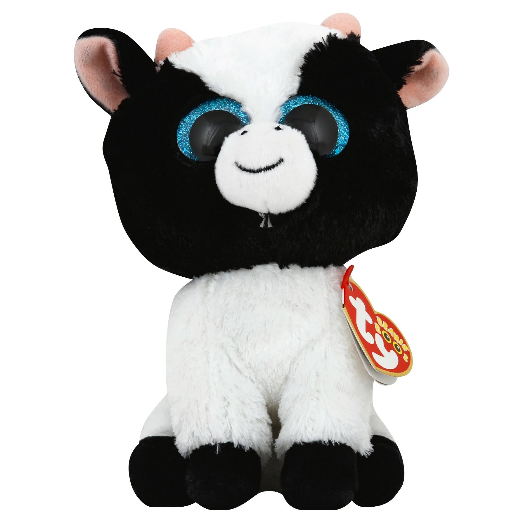 Ty Beanie Boos Butter The Black and White Cow Plush Toy - 6""