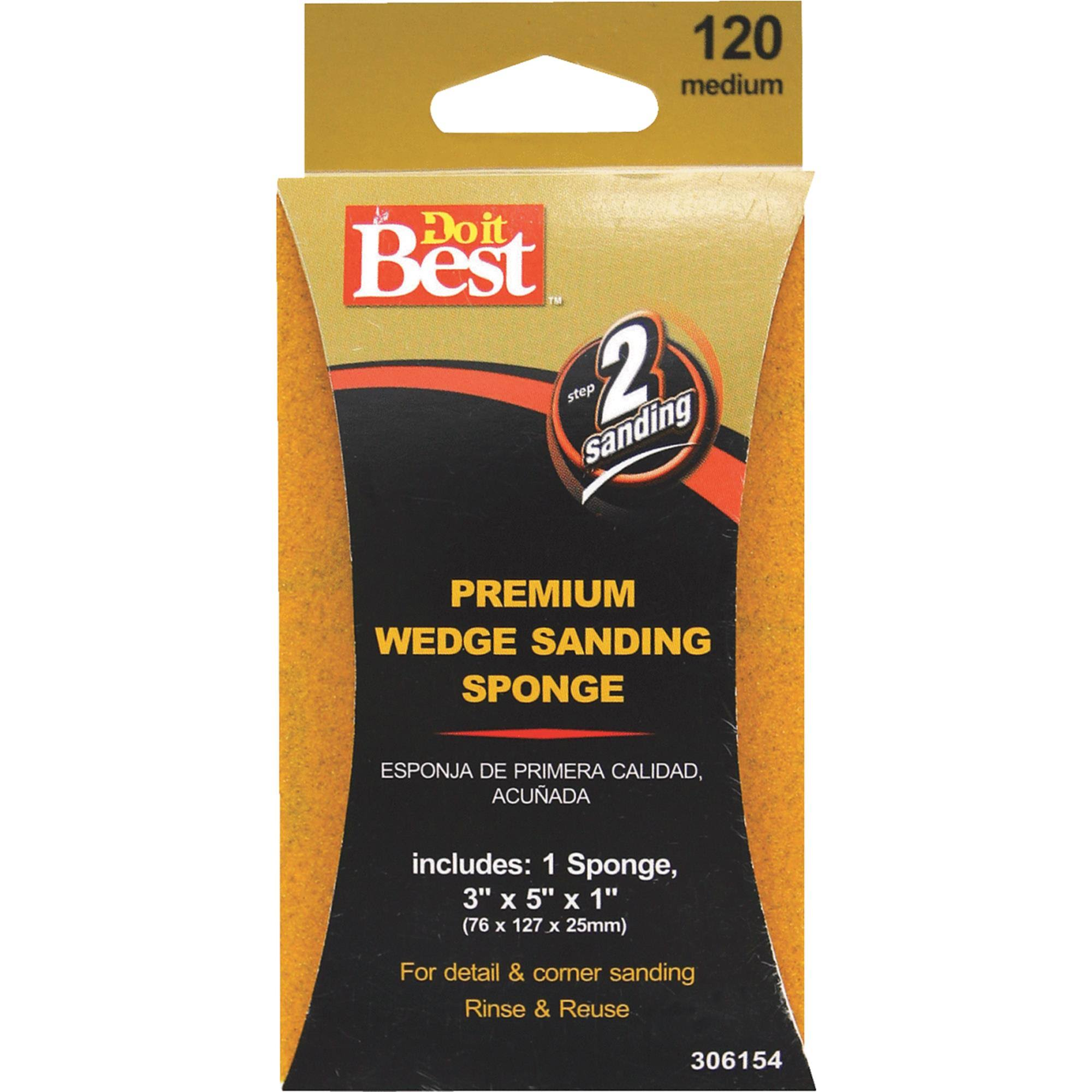 Do It Best Wedge Sanding Sponge - 120 Medium