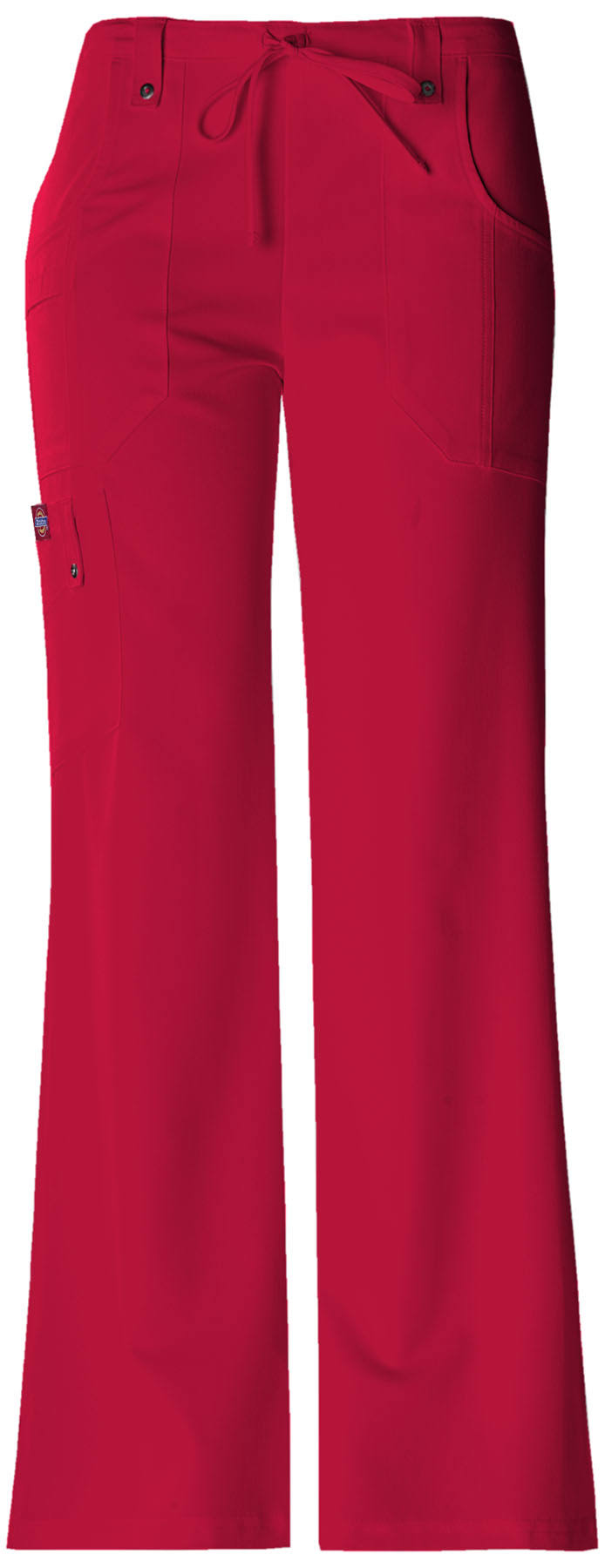 Dickies Women's Xtreme Stretch Tall Drawstring Scrub Pant - L - Red