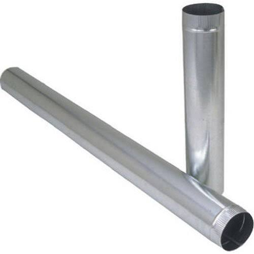"Imperial Manufacturing Galvanized Steel Pipe - 8""x24"", 24 Gauge"