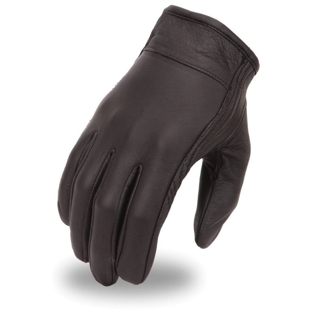 First Manufacturing Motorcycle Clean Short Gloves, Black