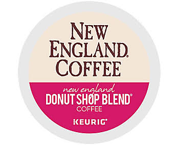 New England Coffee Donut Shop Blend K-Cup Pods, 24/Box