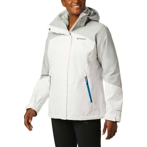 Columbia Bugaboo II Fleece Interchange Jacket - Women's White Cirrus Grey Extra Small 1799241100-XS