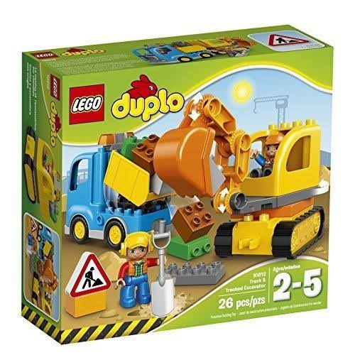 Lego Duplo 10812 Truck And Tracked Excavator - 26 Pieces