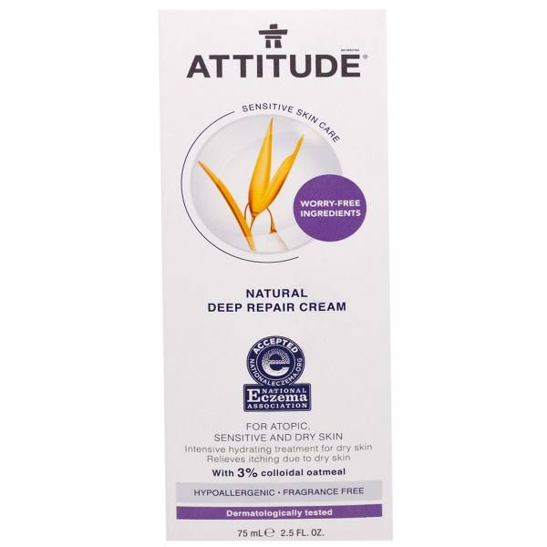Attitude, Sensitive Skin Care, Natural Deep Repair Cream, Fragrance FR