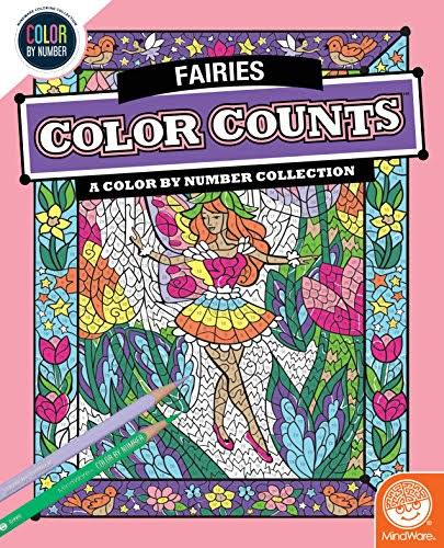MindWare Color by Number Color Counts (Fairies)