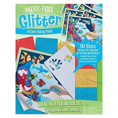 Melissa & Doug - Mess-Free Glitter Ocean Party Pack
