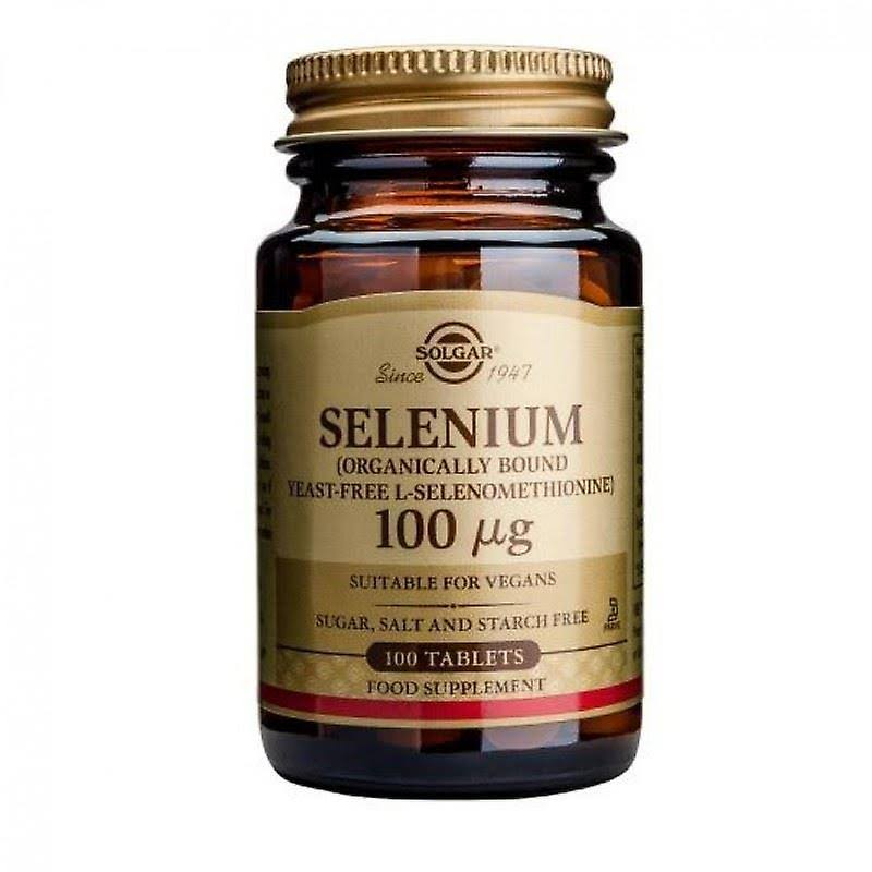 Solgar Yeast-Free Selenium 100mcg Dietary Supplement - 100 Tablets
