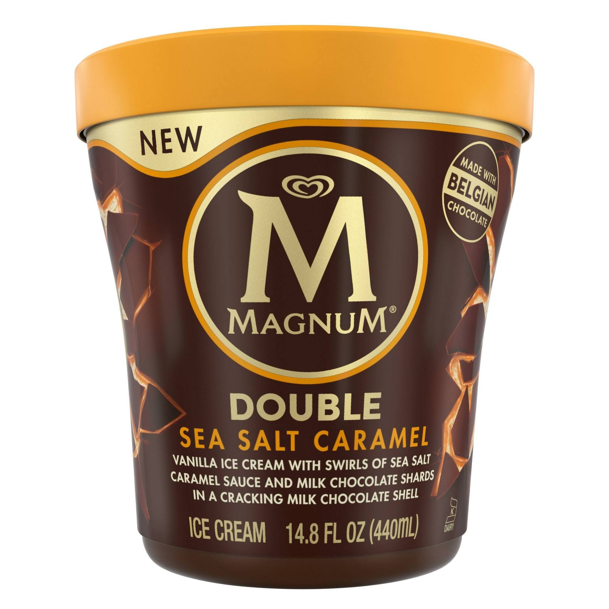 Magnum Tub Double Ice Cream - Sea Salt Caramel, 14.8oz