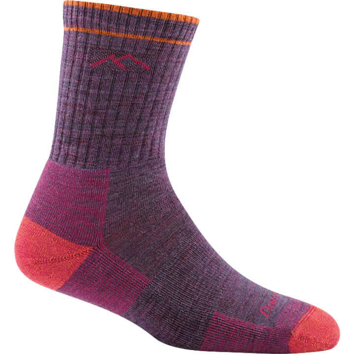 Darn Tough Women's Hiker Micro Crew Cushion Socks - Plum Heather, Medium