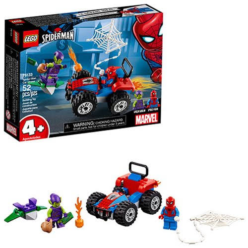 Lego Marvel Spider Man Building Set - Man Car Chase