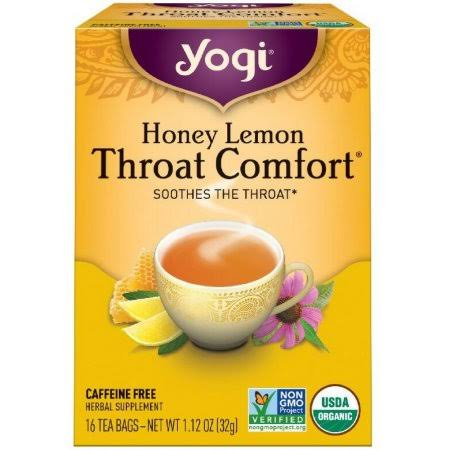 Yogi Honey Lemon Throat Comfort Tea - 16 Tea Bags