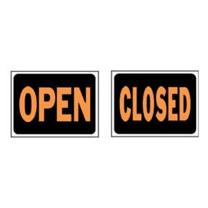 Hy-Ko English Open/Closed Reversible Sign Plastic 9 in. H x 12 in