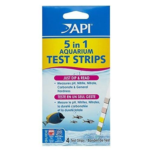 Api 5 In 1 Aquarium Test Strips - x4