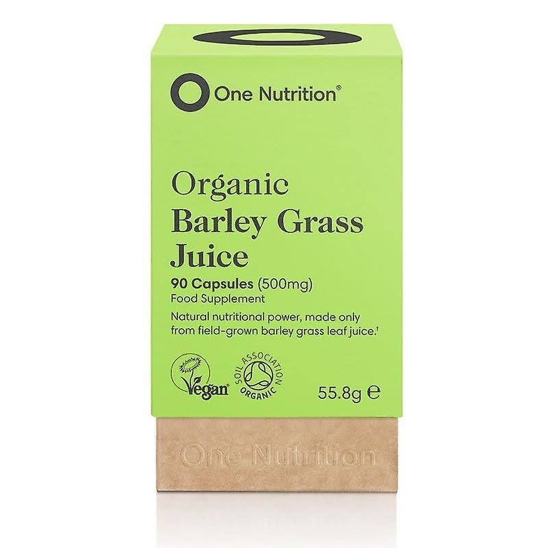 One Nutrition Organic Barley Grass Juice - 90 x 500mg Capsules