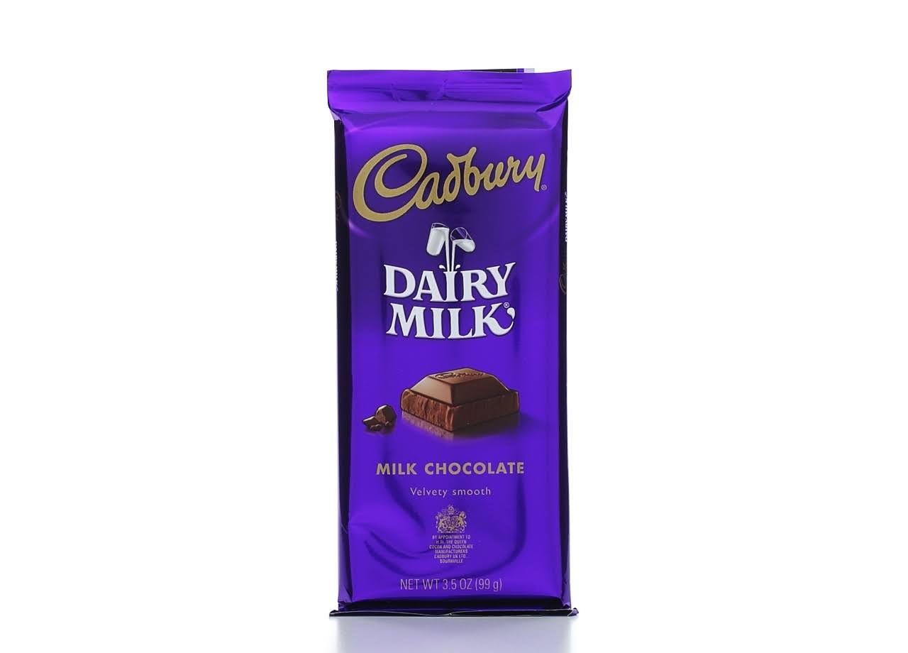 Cadbury Dairy Milk Velvety Smooth Milk Chocolate - 3.5oz