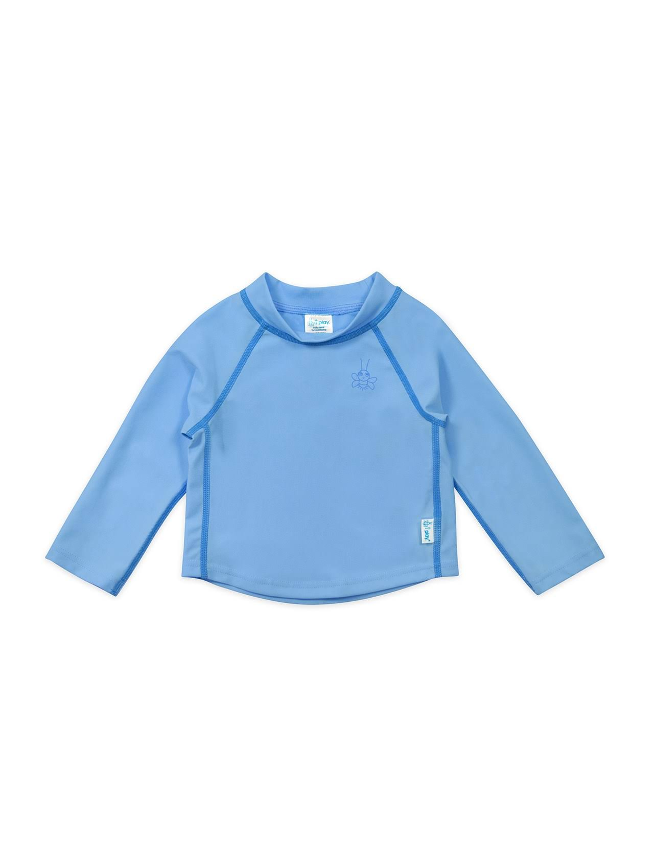 I Play - Long Sleeve Rashguard - 6M - Light Blue