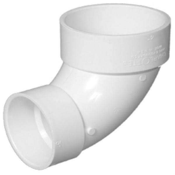 "Charlotte Pipe Elbow PVC Fitting - 3"" x 4"""