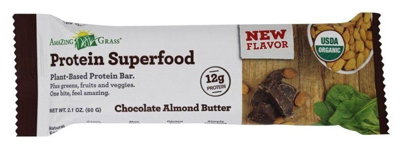 Amazing Grass Organic Protein Superfood Bar - Chocolate Almond Butter, 2.1oz