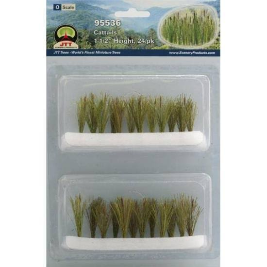 "JTT Scenery Products O Cattails, 1.5"" Tall (24)"