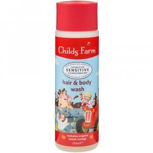 Childs Farm Hair & Body Wash - Sweet Orange, 250ml