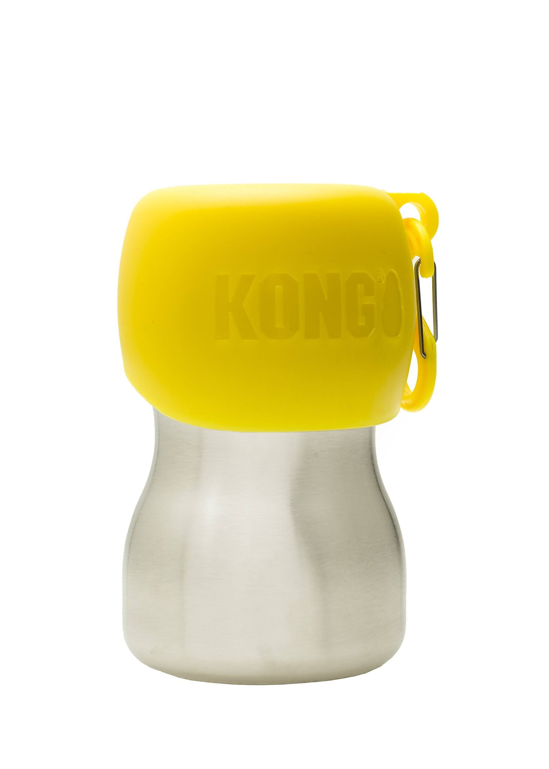 Kong H2O Stainless Steel Dog Water Bottle, 9.5-oz, Yellow