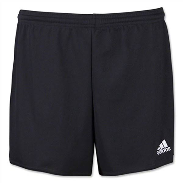 Adidas Women's Parma 16 Soccer Shorts - Black/White, Large