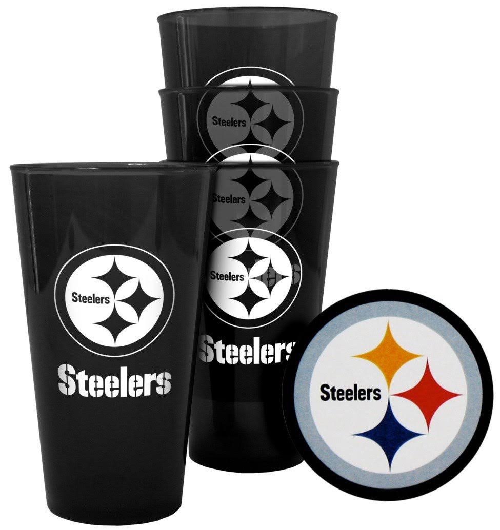 Boelter Brands Pittsburgh Steelers Plastic Pint Glass Set