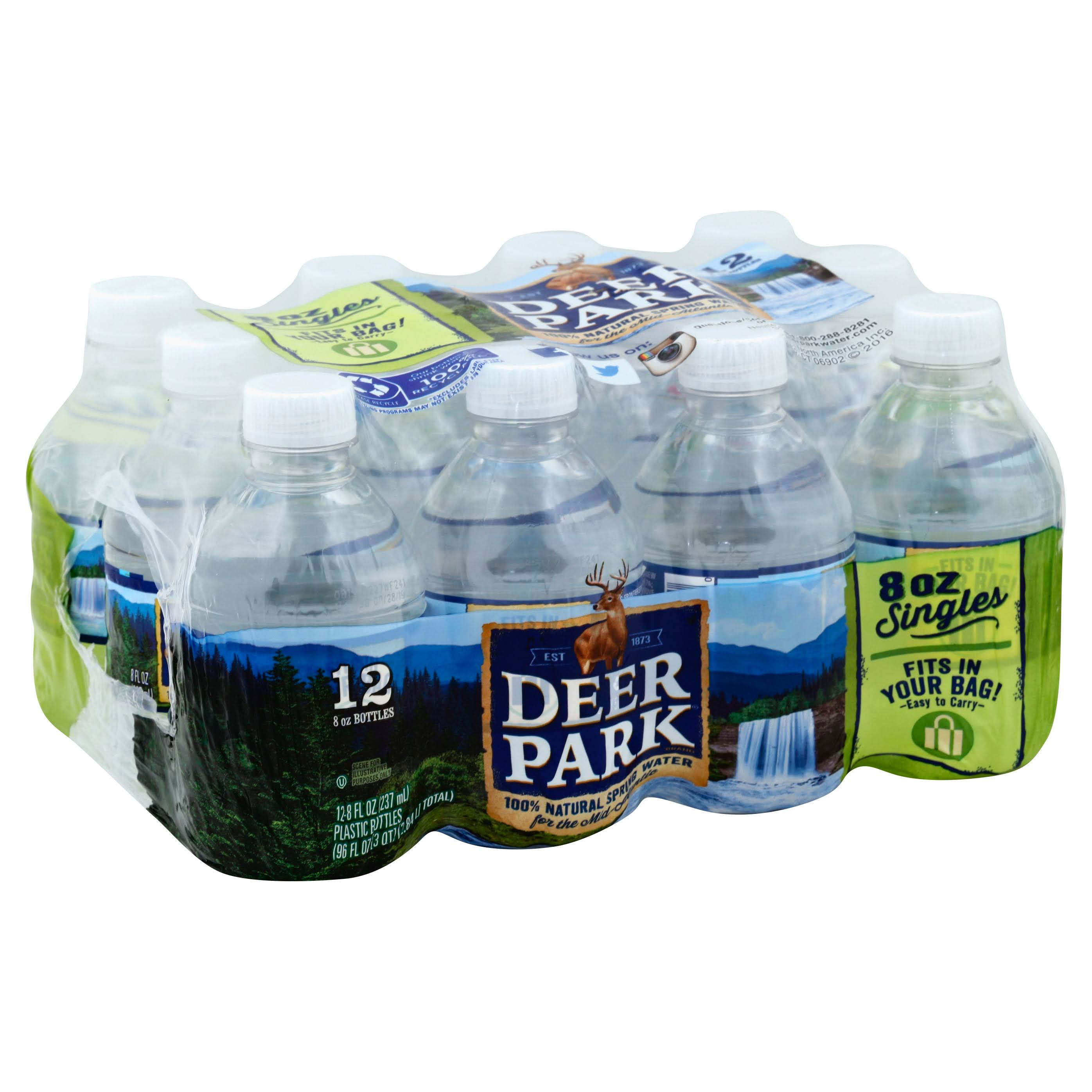 Deer Park Brand 100% Natural Spring Water - 12 Bottles, 2.8l