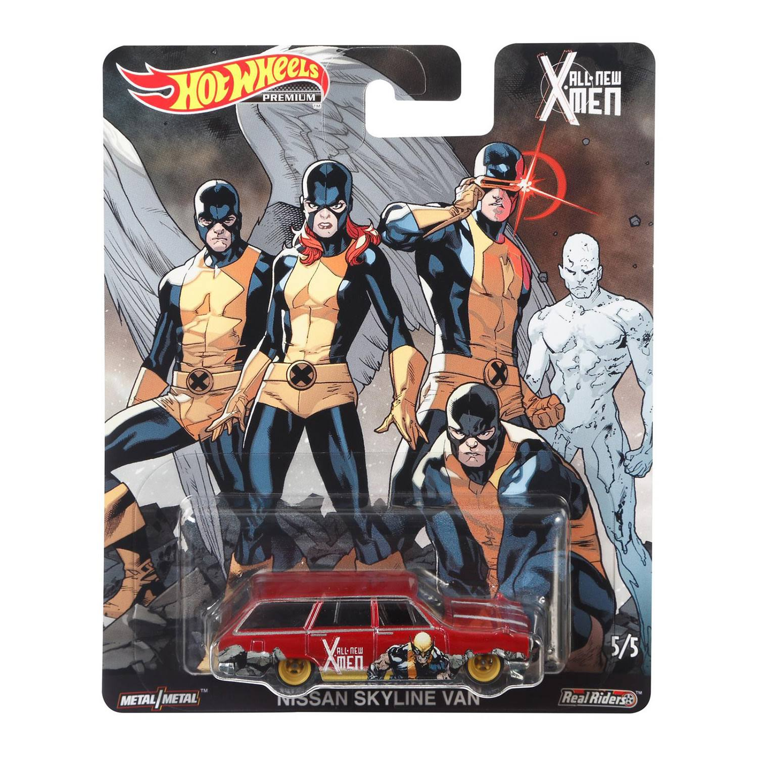 Hot Wheels Premium Toy, Car, All New X-Men, Nissan Skyline Van