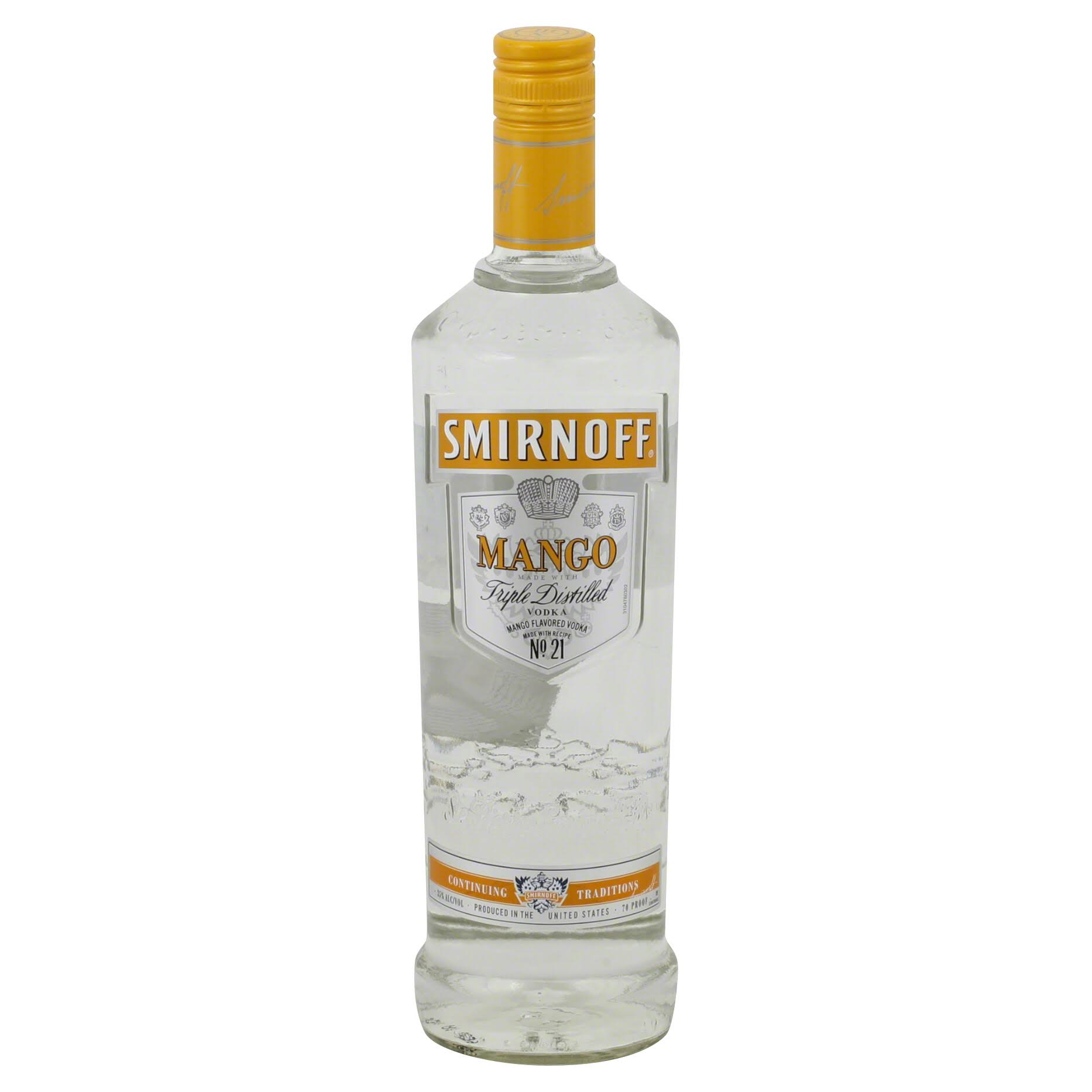 Smirnoff Vodka, Mango - 750 ml