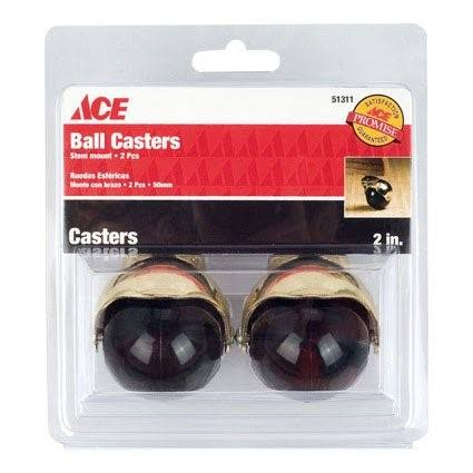 "Ace Ball Casters - 2"", 2 Pieces"